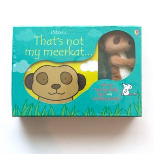 meerkat toy and book set